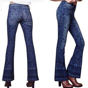 Tokyo Darling High Waist Boho Flare Jeans